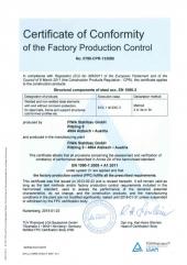Zertifikat EN1090-2 EXC 3 englisch